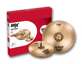 "Sabian B8X First Pack 13"" Hats 16"" Crash"