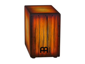 Meinl Headliner® Designer Series String Cajon in Tiger Striped Amber (HCAJ2AMTS)