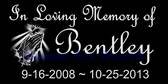 "Custom Granite Black Tile - Memorial Marker 8"" x 4"""