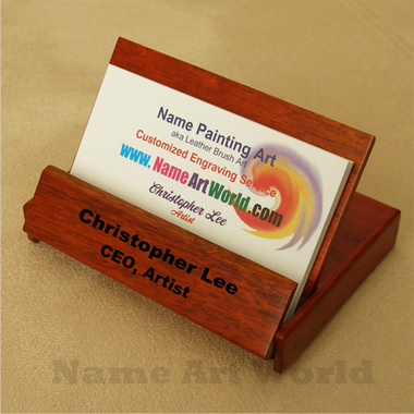 Business card holder rosewood personalized free engraving business card holder rosewood personalized free engraving reheart Gallery