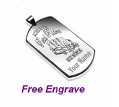 316L Stainless Steel Midium Size Dog Tag Pendant with a chain: Personalized