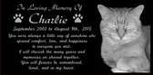 Cat / Pet Memorial  Grave Marker - We Customize Your Words and Photo and More