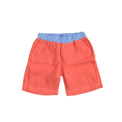Linen Shorts - Orange