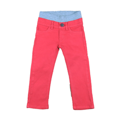 Twill Pants - Coral Red