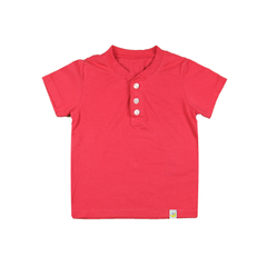 Henley T-Shirt - Raspberry