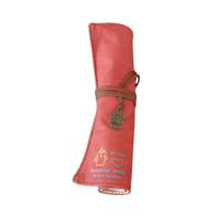Roll-up pencil pouch (red)