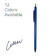 Retractable ballpoint ink pen (Blue)