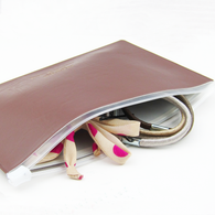 Plastic zipper bag A5 (brown)