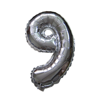 Number Balloons (Silver 9)