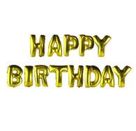 14 inch Alphabet Balloons Set (Happy Birthday - Gold)
