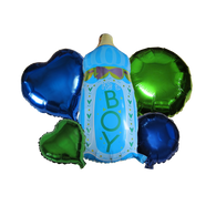 Baby Bottle Boy Balloons 5 Pieces Set