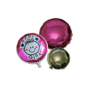 Baby Shower Girl Balloons 3 Pieces Set