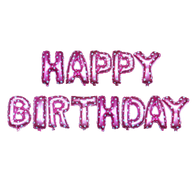 14 inch Alphabet Balloons Set (Happy Birthday - Pink)