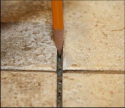 Grout to be removed