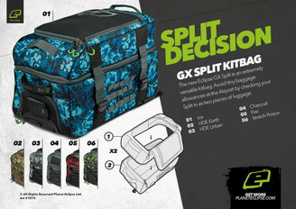 Eclipse GX Split Compact Bag Charcoal