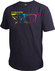 Eclipse Mens Drip T-Shirt Purple L