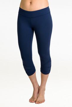 Goddess Yoga Capri Legging (Navy)