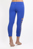 """My all time favorite piece from KG is the Warrior Tough Cut Legging. They are super sexy, perfectly edgy, and so comfortable. I get compliments every time wear them."" - Marni Sclaroff Royal Blue Tough Cut Out Leggings"