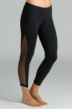 Black Romance Mesh Ballet Yoga Leggings