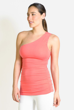 Goddess Luxe One Shoulder (Coral)