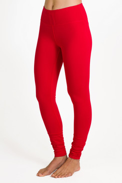 Glamour Goddess Hi-Waist Yoga Tight (Ruby)