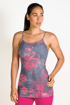 The Flirt Yoga Cami in Vintage Rose is one part sweet, one part sexy!