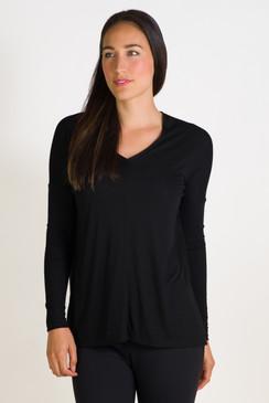 Double V Long Sleeve (Black)