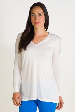 Double V Long Sleeve (White)