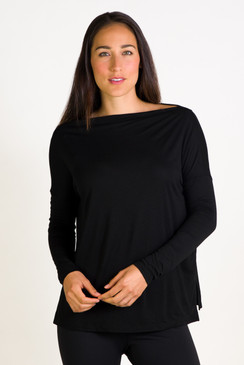 Boatneck Long Sleeve (Black)