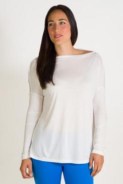 Boatneck Long Sleeve (White)