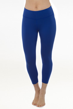 Dark Blue Grace Yoga Capris Leggings