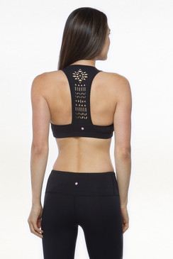 Warrior Laser-Cut Bra (Black)