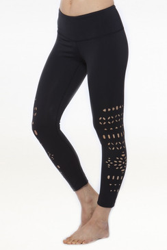 Warrior Laser-Cut Legging (Black)