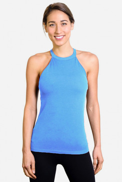 Grace Yoga Halter (Riviera Blue)
