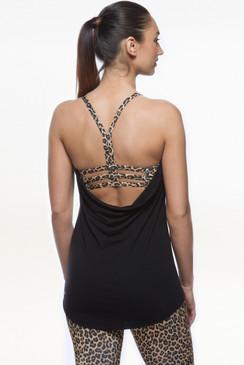 Grace En Pointe Y-Back (Black/Leopard)