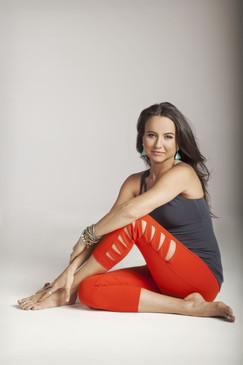 Red Warrior Tough Cut Out Yoga Leggings Outfit Tiffany Cruikshank