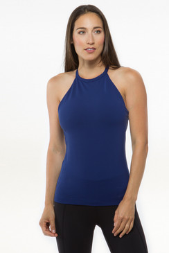 Grace Yoga Halter (Midnight)