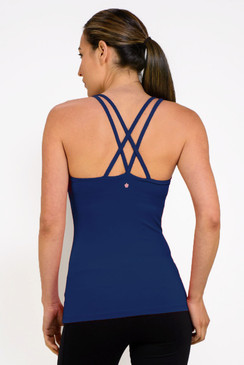 Grace Double-Strap Tank (Midnight)