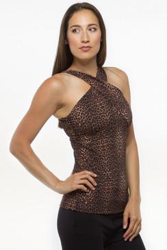 Glamour Goddess Luxe Halter (Dark Leopard)