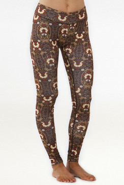 Grace Yoga Tight (Gold Brocade)