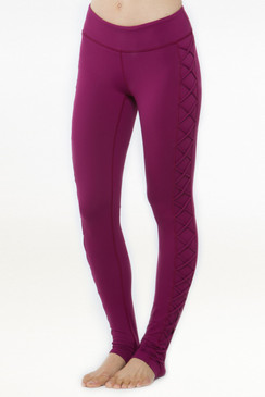 Romance Lace-Up Legging (Syrah)