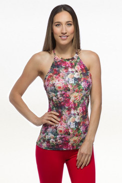 Grace Yoga Halter (Baroque Rose)