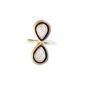 Asha Patel's Lotus Petal Moonstone Inversion Ring