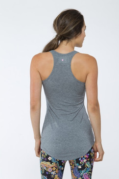 Long Racerback Tank (Heather Grey)