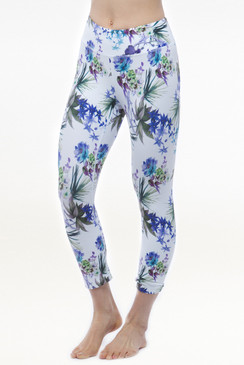 Grace Printed Yoga Capris Leggings