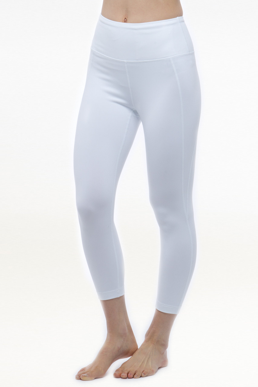 Ultra High Waist Capri in White | Yoga Capris & Crops | KiraGrace