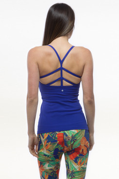 Blue Warrior Yoga Tank Tops