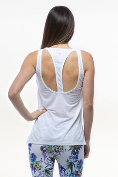 White Warrior Relaxed Yoga Tank Tops