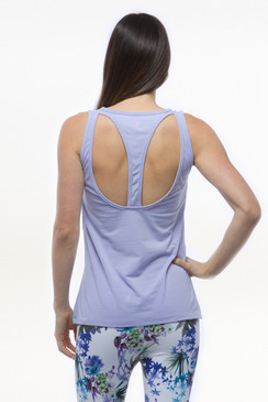 Lilac Purple Relaxed Yoga Tank Tops