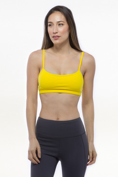 Yellow Grace Yoga Bra Tops